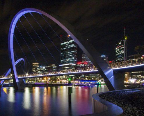 Elizabeth Quay Bridge LED Architectural Lighting