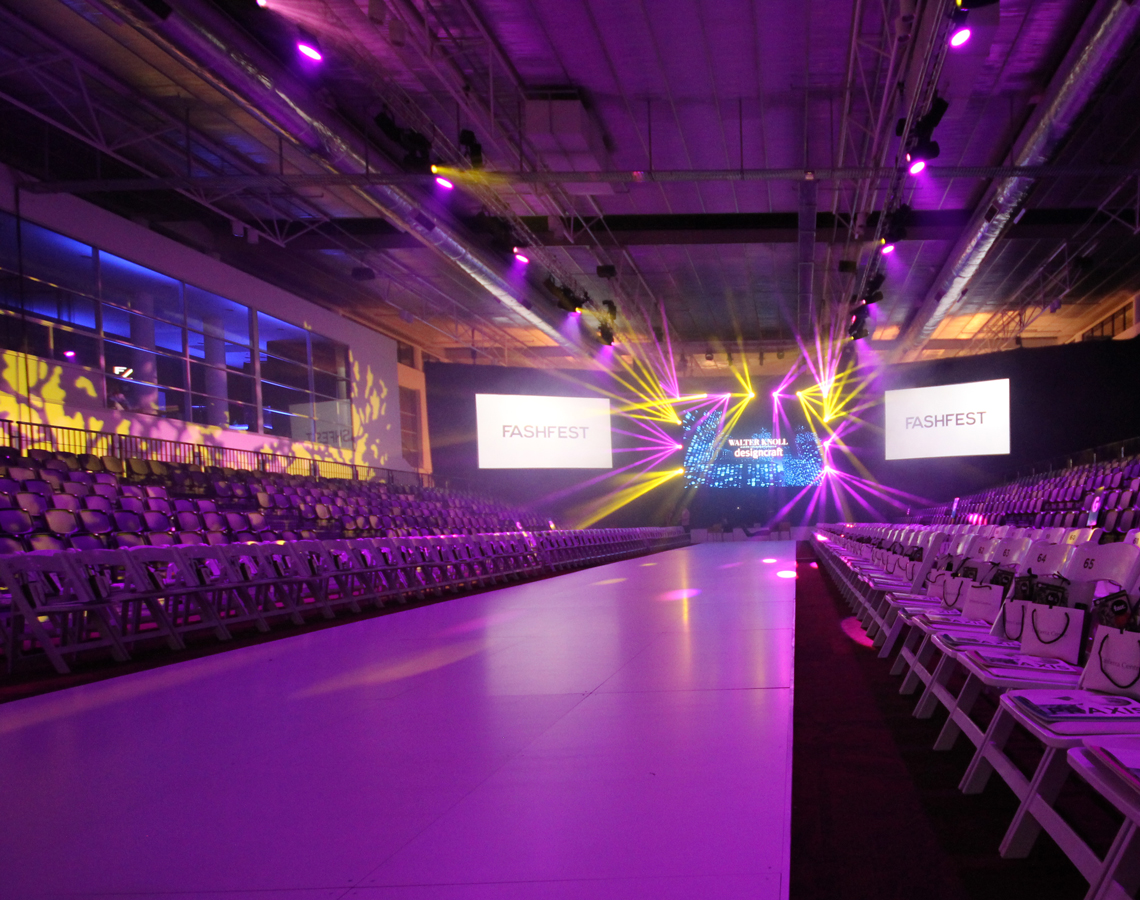 FashFest Canberra Event Stage Runway LED Lighting and Big Screen