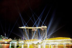 Marina Bay Sands Singapore Outdoor Light Show