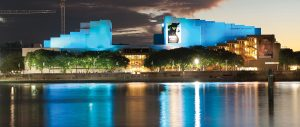 QPAC Brisbane River Outdoor LED Building Facade Lighting