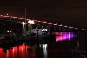 Sir Leo Hielscher Bridge Brisbane River Architectural Lighting