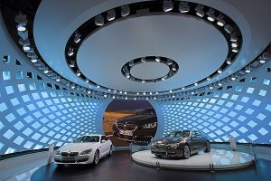BMW Show Room Stage Lighting Custom LED Digital Display