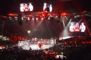 Total Carnage Fight Night Event Stage LED Screens and Stadium Lighting