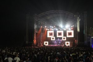 V8 Supercars Event Stage LED Screens and Stadium Lighting