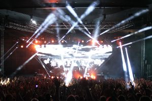 Avicii Event Stage LED Screens and Stadium Lighting