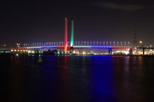 Bolte Bridge Melbourne Outdoor LED Architectural Lighting
