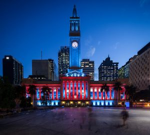 Brisbane City Hall Outdoor LED Building Facade Lighting LED Light Show