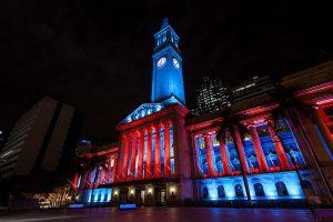 Brisbane City Hall Outdoor LED Building Facade Lighting LED Light Show