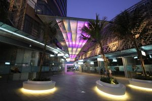 Soul Retail Complex Walkway Surfers Paradise Outdoor LED Custom Architectural Lighting