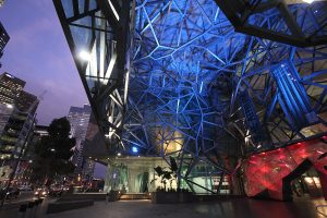 Federation Square Melbourne Building Facade LED Architectural Lighting