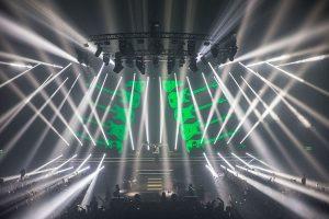 Armin Van Buuren Music Concert Stage Lighting Design Spotlights