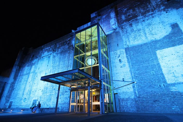 Brisbane Power House Museum Building Facade Outdoor LED Lighting