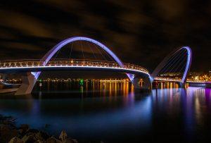 Elizabeth Quay Perth Bridge Outdoor LED Architectural Lighting