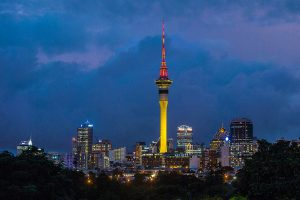 Sky Tower Auckland Outdoor LED Architectural Lighting