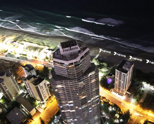 Channel 7 News Gold Coast Custom Beach Lighting LED Signage