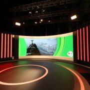 Rio Olympics 2012 Channel 7 TV Studio Custom Lighting Curved LED Screen