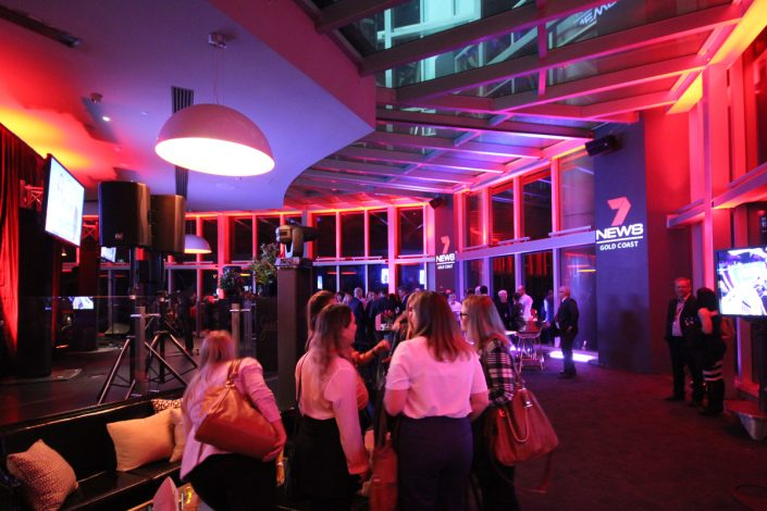 Channel 7 News Gold Coast Corporate Function Lighting