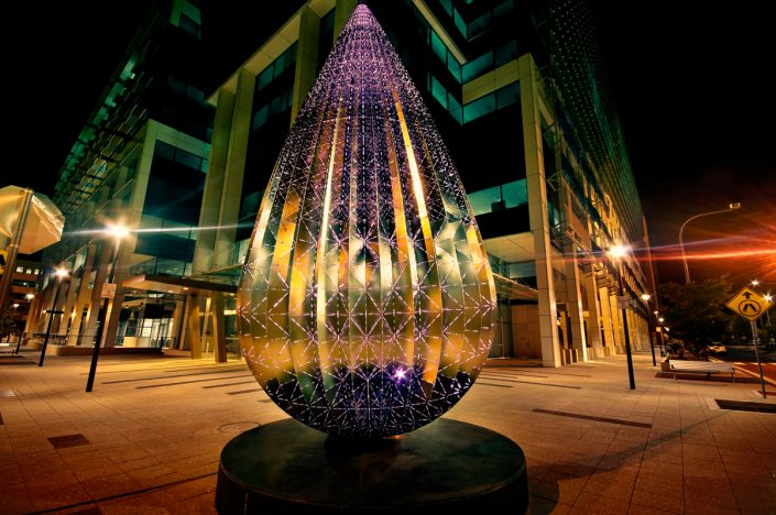 The Droplet Sculptural Artwork Custom LED Outdoor Lighting