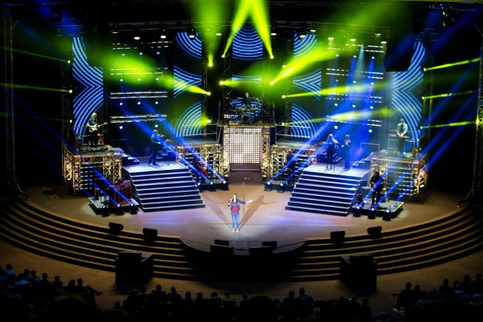Church Stadium LED Stage Lighting Design