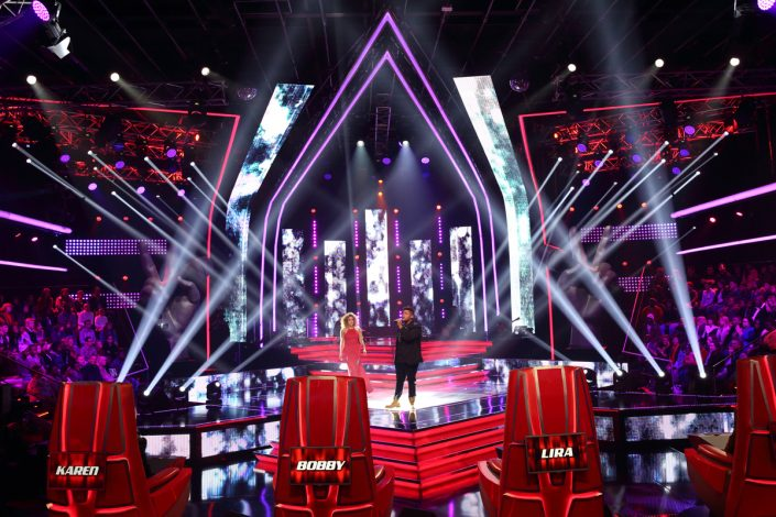 The Voice South Africa Stage Lighting Design with Custom LED Screens and LED Spot Lights