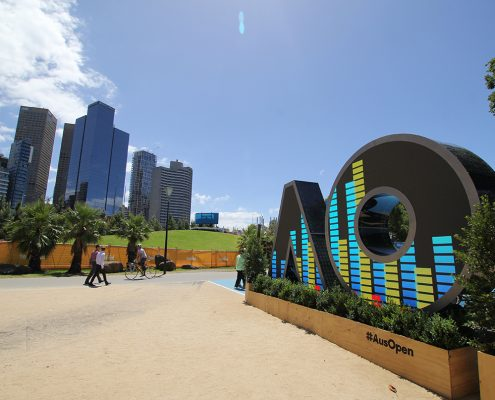 Australian Open Tennis Custom LED Digital Signage Display Artwork