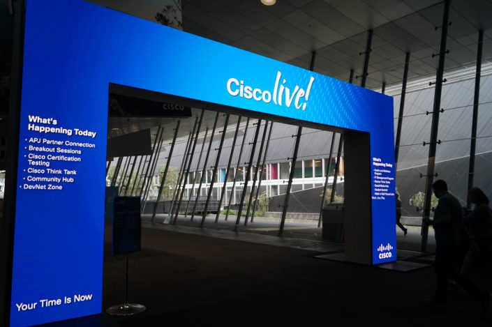 Clifton Productions Cisco Live Event Custom LED Screen Advertising