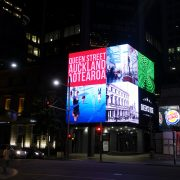 Queens Rise New Zealand Building Facade LED Screen Outdoor Billboard Advertising