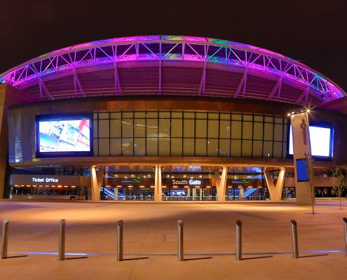 Adelaide Oval Custom LED Outdoor Building Facade Architectural Stadium Lighting Big Screens