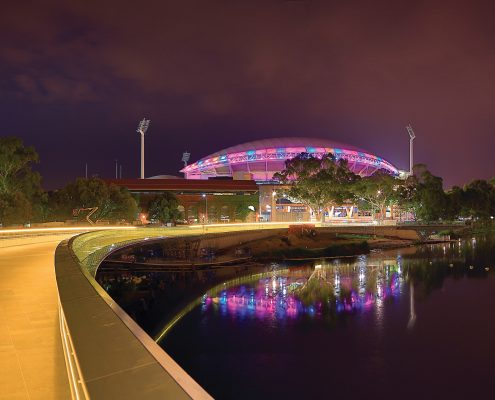 Adelaide Oval Custom LED Outdoor Building Facade Architectural Stadium Lighting