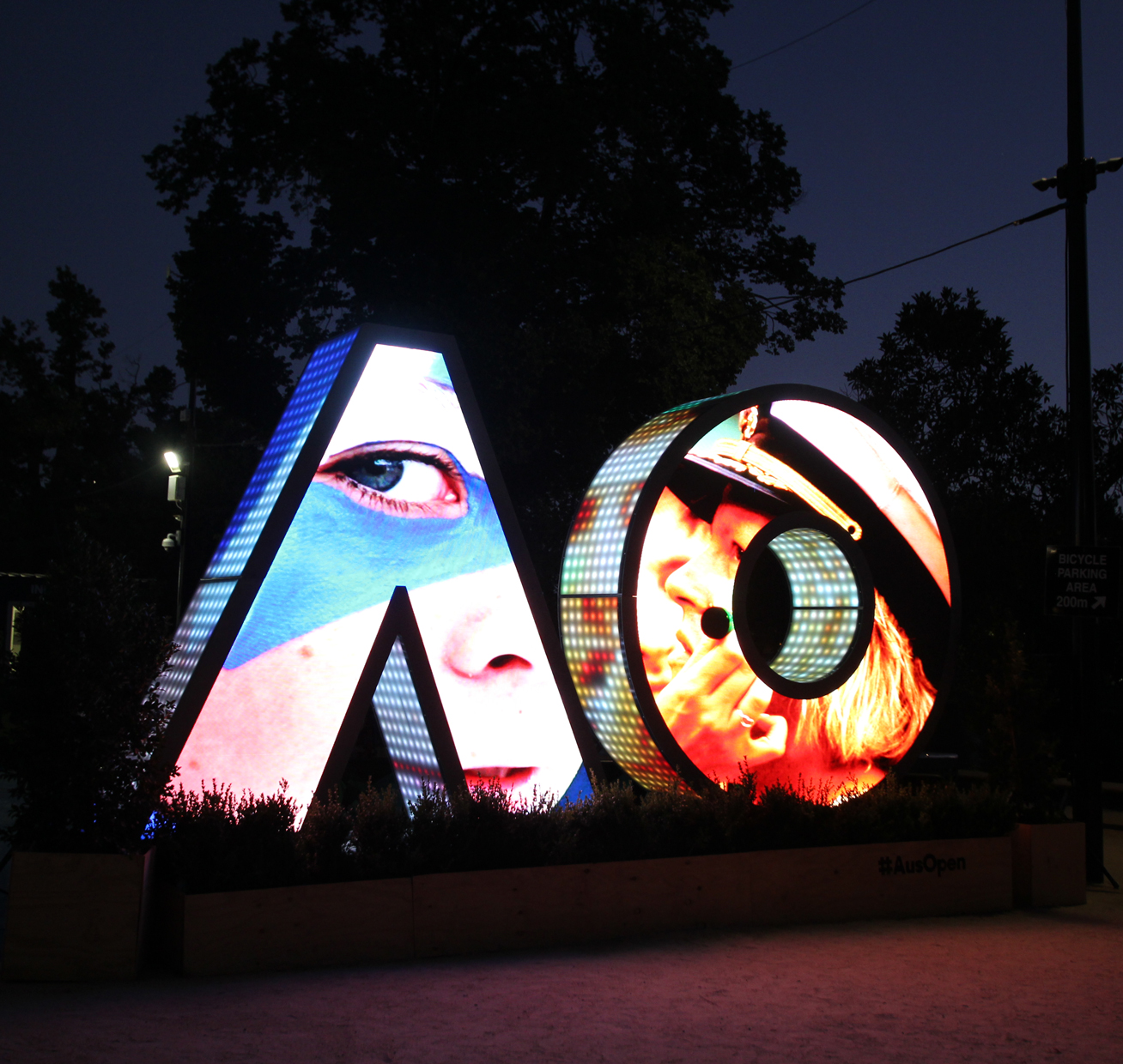 Australian Open Tennis Custom LED Screen Artwork