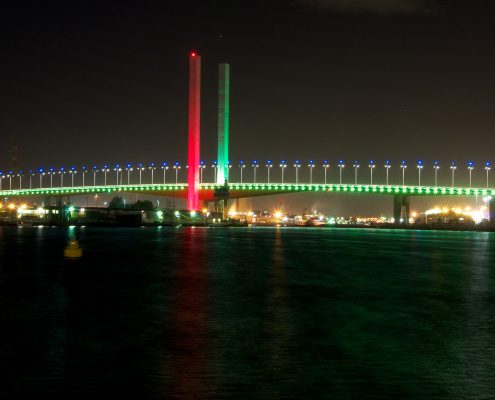 Bolte Bridge Columns Custom LED Facade Architectural Lighting