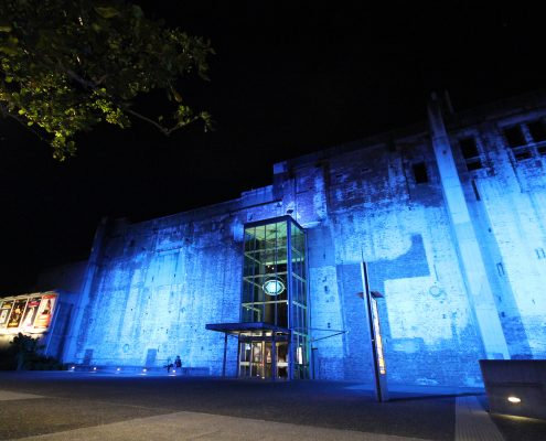 Brisbane Power House Light Show Custom Outdoor LED Building Facade Architectural Lighting