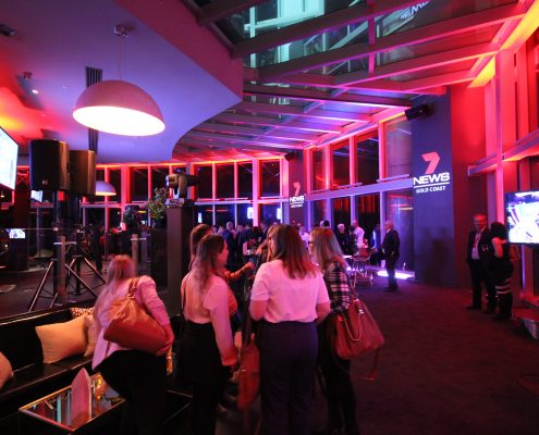 Channel 7 News Gold Coast Event LED Lighting