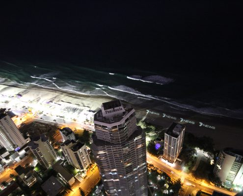 Channel 7 LED Lighting Beach Advertising