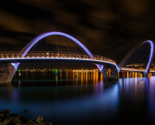 Elizabeth Quay Bridge Architectural Lighting