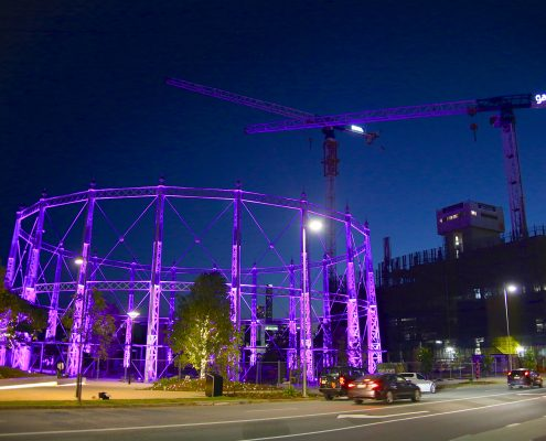Gas Works Brisbane Cranes and Event Stadium Custom LED Lighting