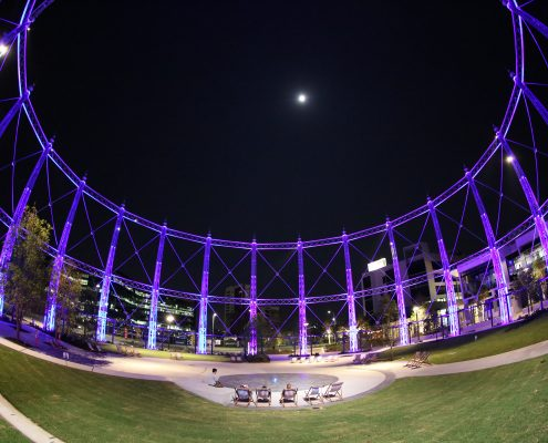 Gas Works Brisbane Event Stadium Custom LED Lighting