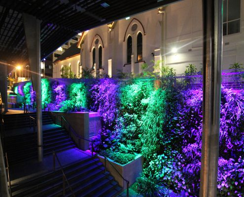 Green Wall Brisbane Rainbow LED Lighting