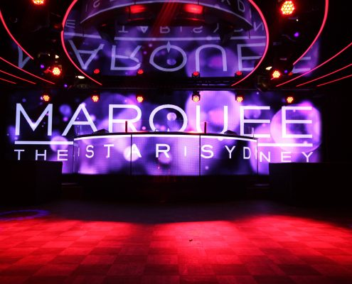 Marquee Club The Star Sydney Curved LED Screen Custom Event Theatre Lighting