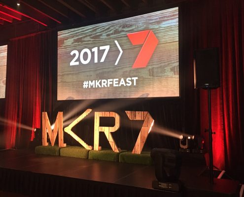 My Kitchen Rules Channel 7 MKR Event Lighting LED Screens MKRFEAST Spot Light