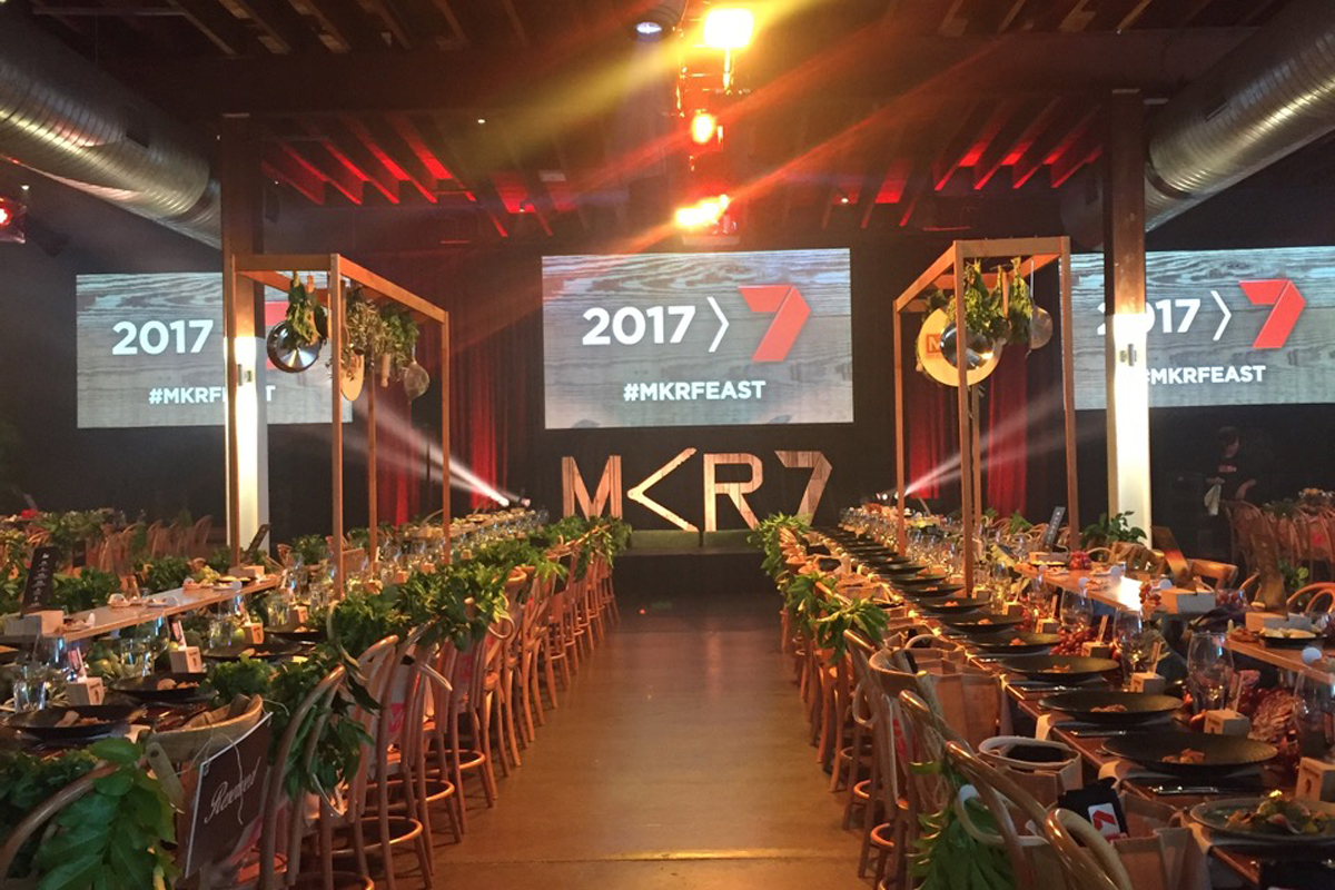 My Kitchen Rules Channel 7 MKR Event Lighting LED Screens MKRFEAST