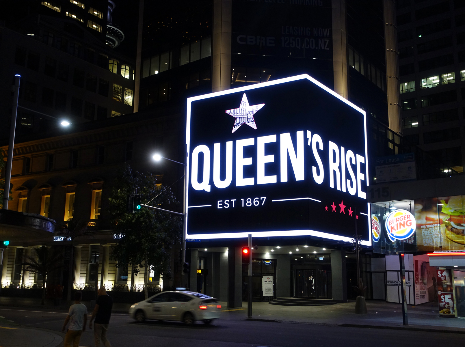 Queens Rise Building Facade LED Billboard Digital Advertising Sign