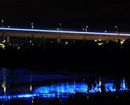 Sir Leo Gateway Bridge Custom LED Facade Architectural Lighting