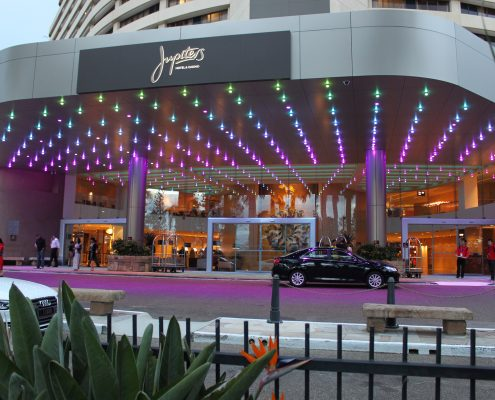 The Star Gold Coast Jupiters Casino Entrance Outdoor LED Lights