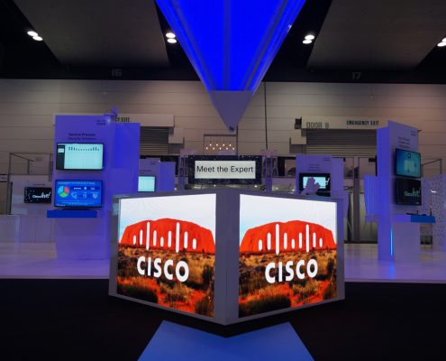 Clifton Productions Cisco Live Custom LED Screen Digital Display