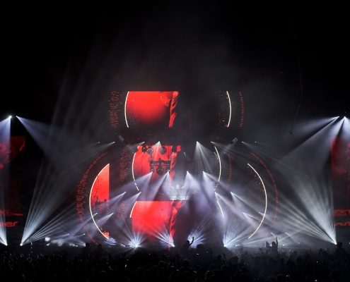 David Guetta Concert Stage Lighting Design LED Screen