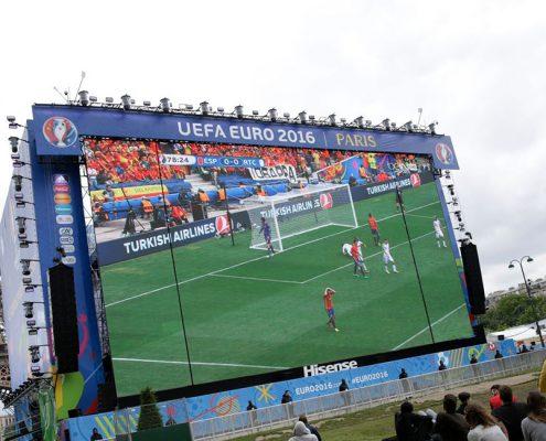 UEFA Euro Soccer Eiffel Tower LED Scoreboard Bigscreen