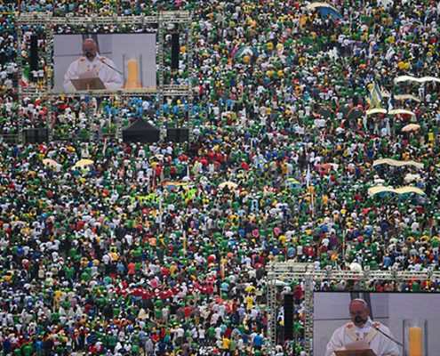 Pope Francis Mass Vuepix LED Screens