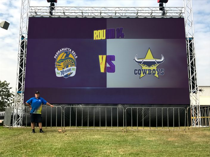 LED Scoreboard Big Screen NFL Cowboys vs Eels