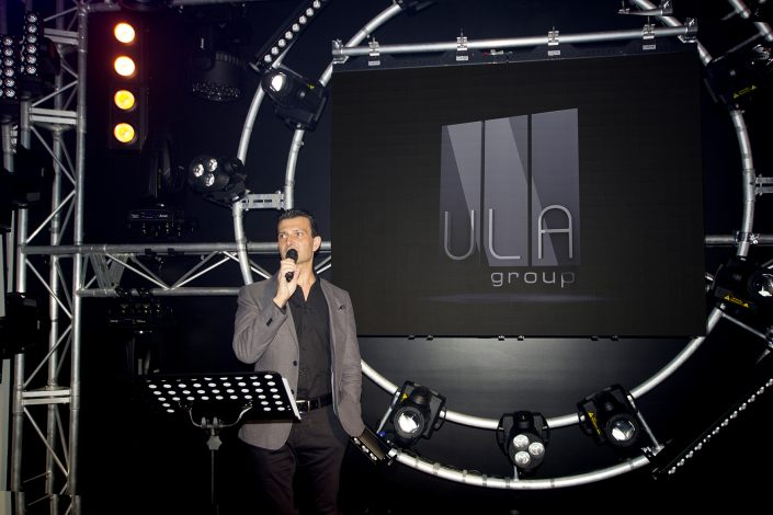 ULA Group QLD Showroom Opening Event Lighting Display